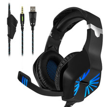 Gaming Headphones with Light Mic Headsets Stereo Earphones Deep Bass for PS4 PC Computer Gamer Laptop E-sports Headphone A1 foldable stereo headphones bass headphone headband earphone wired earphones sport gaming headsets for phone pc computer mp3 gift