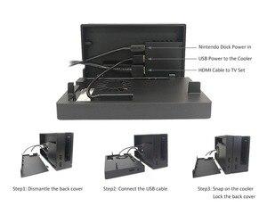 Image 5 - Тв приставка Nintendo Switch, охлаждающая док станция для Nintendo Switch, система воздушного потока, внешний регулятор температуры USB