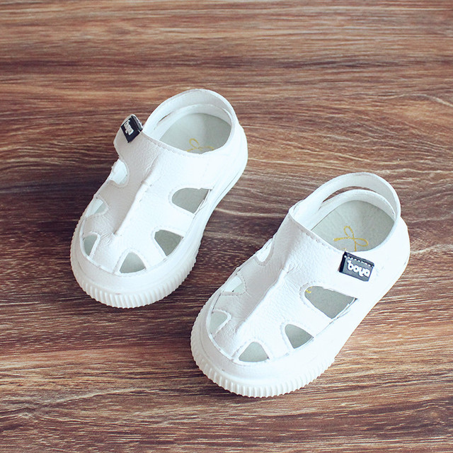 2017 summer baby shoes 0 - 1 - 3 years old toddler shoes soft children shoes outsole boy girl genuine leather shoes