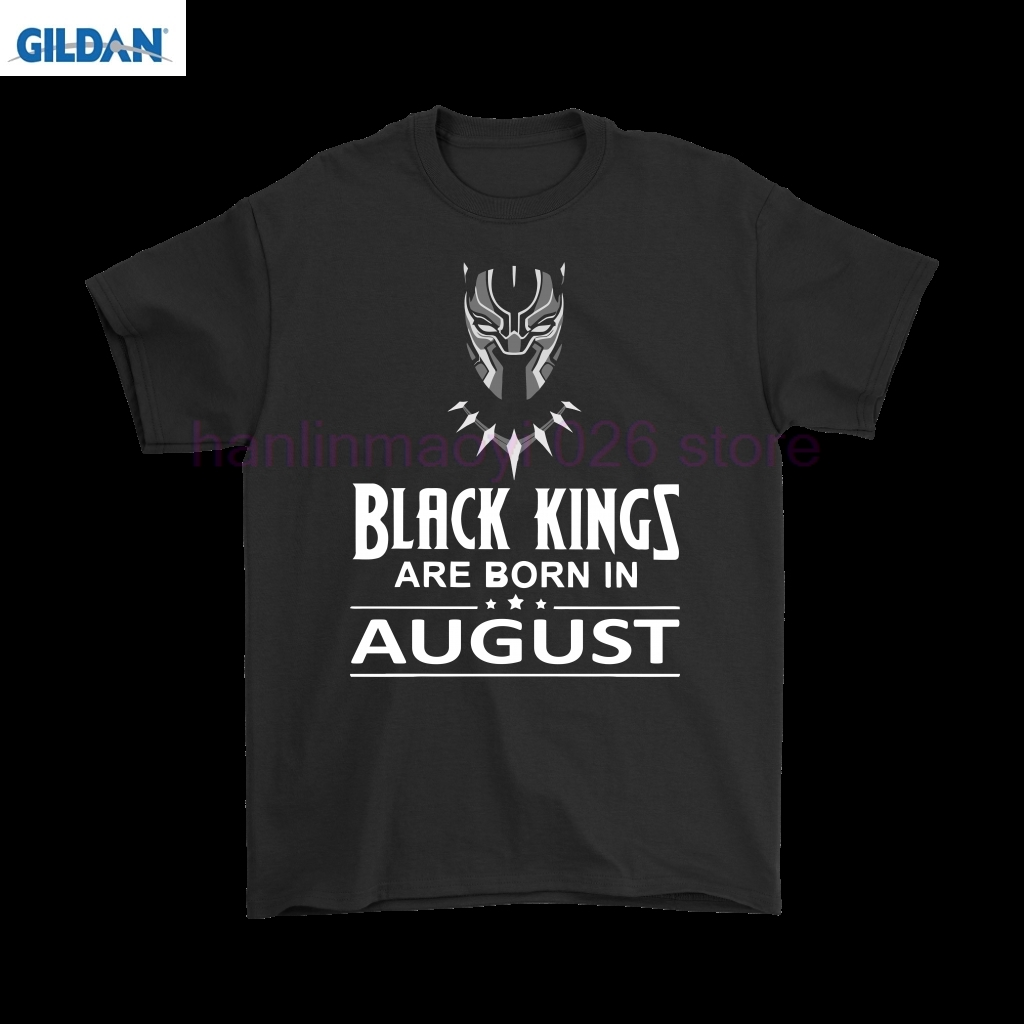 Black Kings Are Born In August Black Panther Shirts