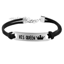 King His Queen Couple Hand Bracelet Stainless Steel