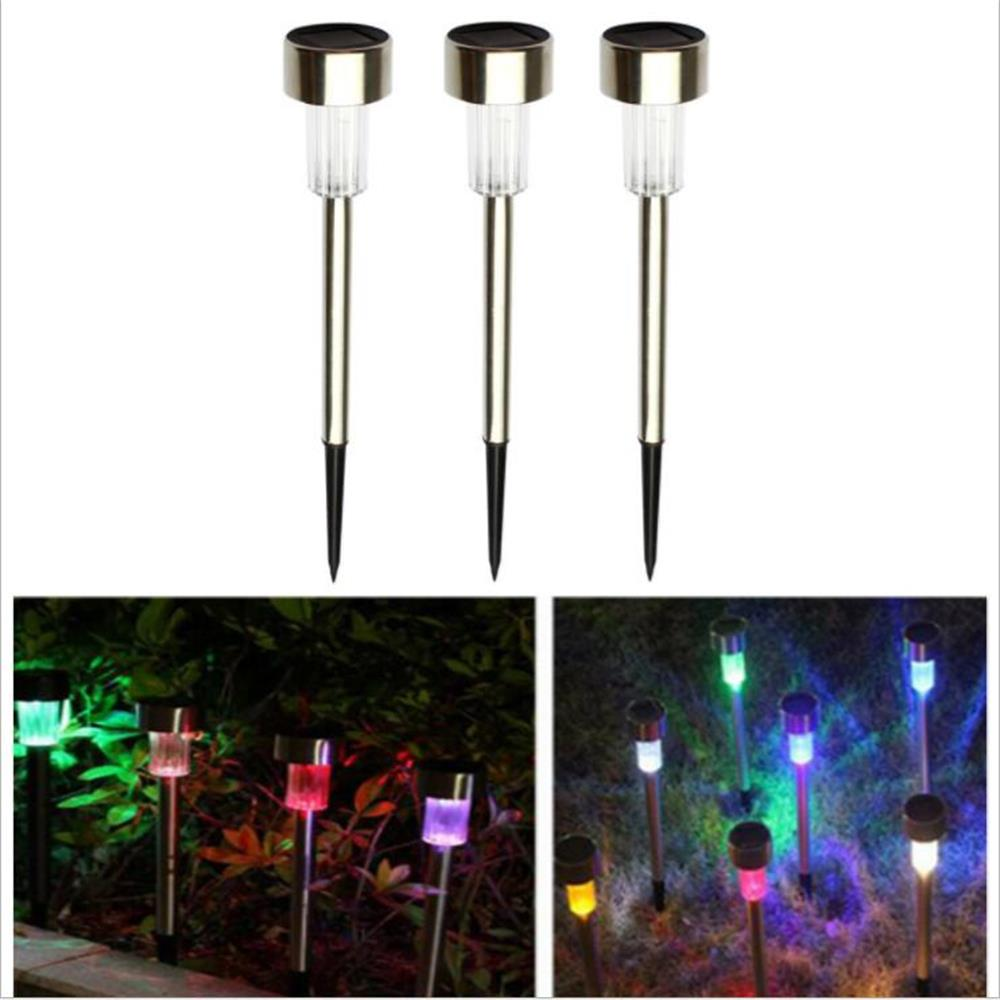 10PCS LED Solar Light Torch Waterproof LEDs Solar Lawn Lamp Outdoor Solar LED Path way Garden Lights Yard Decoration lightings купить в Москве 2019