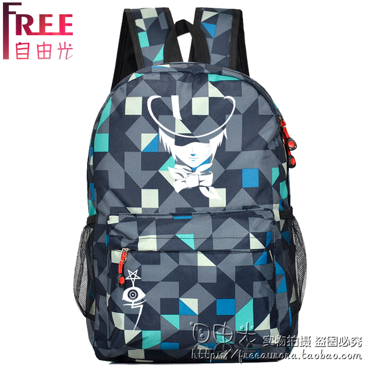 Anime D.Gray-man Cosplay Anime backpack student campus male and female backpack child birthday gift anime fairy tail cosplay anime shoulder bag male female student travel leisure large capacity backpacker birthday gift