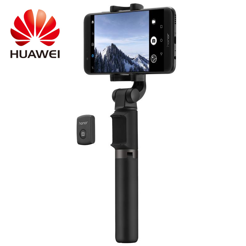100% Huawei Honor AF15 autofoto palillo trípode Bluetooth 3,0 inalámbrico portátil Control Bluetooth Monopod para teléfono móvil en stock
