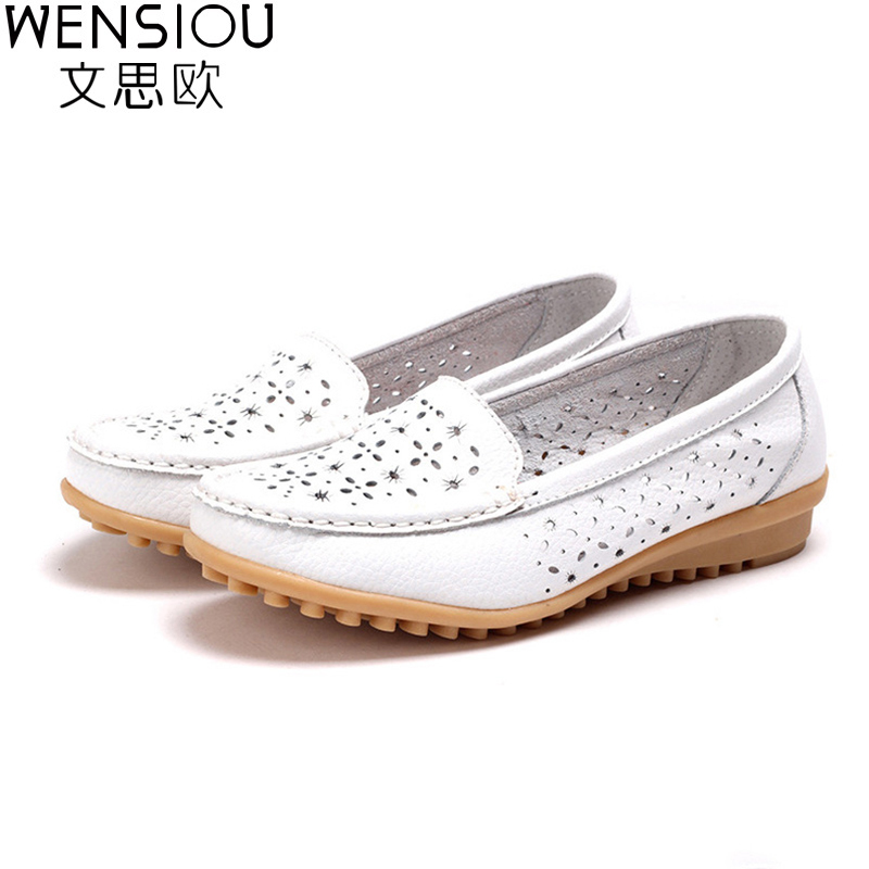 2017 Women Casual Shoes PU Leather Flats Buckle Loafers Casual Slip On Soft Women Shoes Cut-outs Moccasins Flat Shoes DT918 soft pu leather women flat shoes casual driving loafers flats moccasins slip on comfortable buckle woman shoes new fashion sdt08