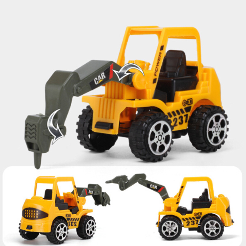 6 Set Kid Vehicle Truck Model Engineering <font><b>Diecast</b></font> Construction Toy 4.5*12*6cm image
