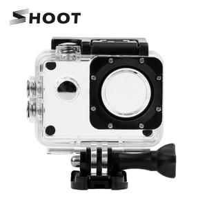 Image 1 - تبادل لاطلاق النار 40 متر شفاف مثبت مضاد للماء الحال بالنسبة SJCAM SJ4000 WIFI SJ 4000 Plus Eken h9 Case h9r SJ4000 عمل ملحقات الكاميرا