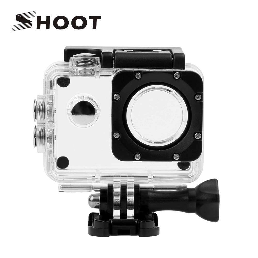 SHOOT 40M Transparent Waterproof Housing Case for SJCAM SJ4000 WIFI SJ 4000 Plus Eken h9 Case h9r SJ4000 Action Camera Accessory купить в Москве 2019