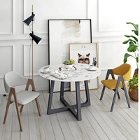 U BEST Contemporary Budget Mid Centery Classic Design Dining Room White Round Sticker Marble Top tea table