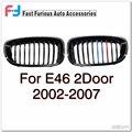 Передняя Черный Глянец М-цвет Почек Решетки Для BMW E46 2 Двери 2002-2007 Решетка Для BMW 3 Серии 2002 2003 2004 2005 2006 2007