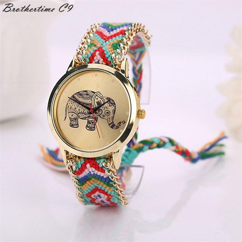 Νέα 2018 Μόδα casual DIY Ελέφαντας μοτίβο - Γυναικεία ρολόγια - Φωτογραφία 4
