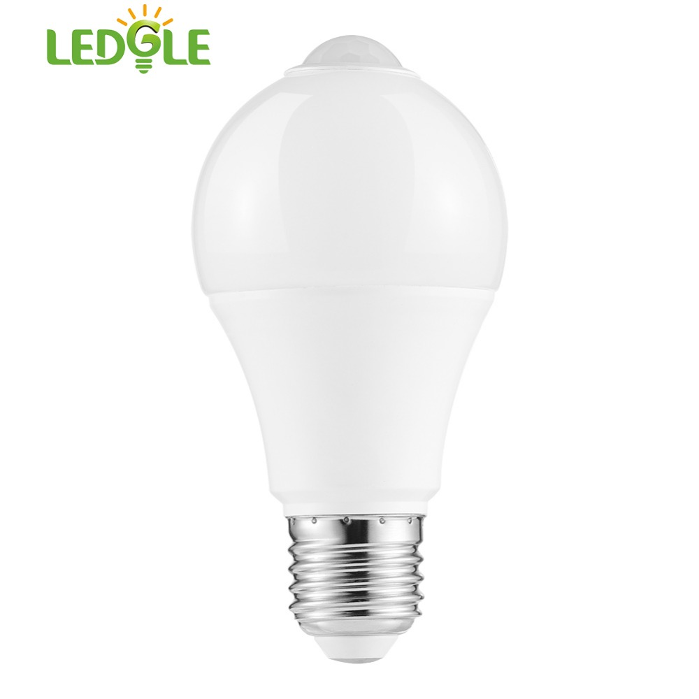 LEDGLE Smart PIR Motion Sensor Lamp 100-240V Led Bulb12w Auto Smart Led PIR Infrared Body+ Light E26 Motion Sensor Light  000K