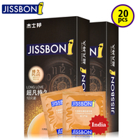 Jissbon Lasting Latex Sleeve Condoms in Smooth Surface Lubricant for Man Cock Or Penis Head Cover Use of Natural Rubber Product