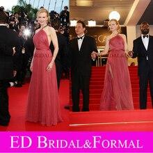 Nicole Kidman Kleid zu. Cannes Film Festival Roten Teppich Schulter Korallen Tüll Prom Kleid Promi Abendkleid