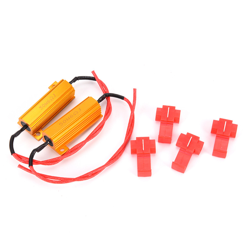 1 Pcs 50W 8R Load Resistor Fix LED Bulb Fast Hyper Flash Turn Signal Blink Light