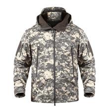 New Soft Shell Tactical Camouflage Jackets Men Hooded Waterproof Fleece Jacket Winter Warm Windbreaker Outwear Coat