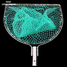 strong nylon line Double circle landing net of head nylon net fishing net fishing network turck net dipneting fishing tool pesca