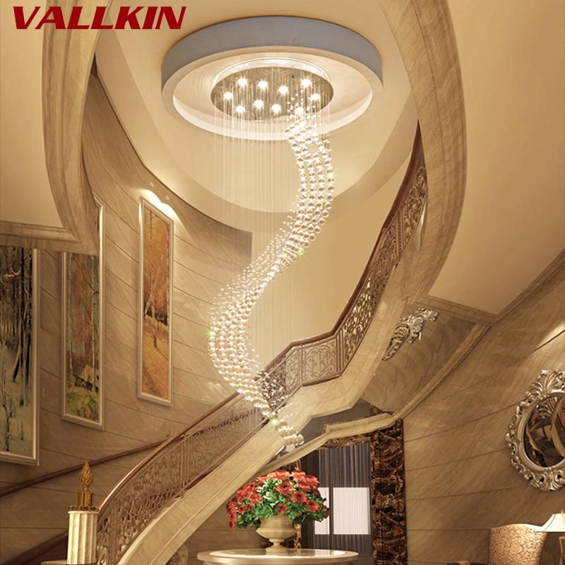 K9 Kristall Treppe LED Kronleuchter moderne künstlerische Spirale - Innenbeleuchtung - Foto 6