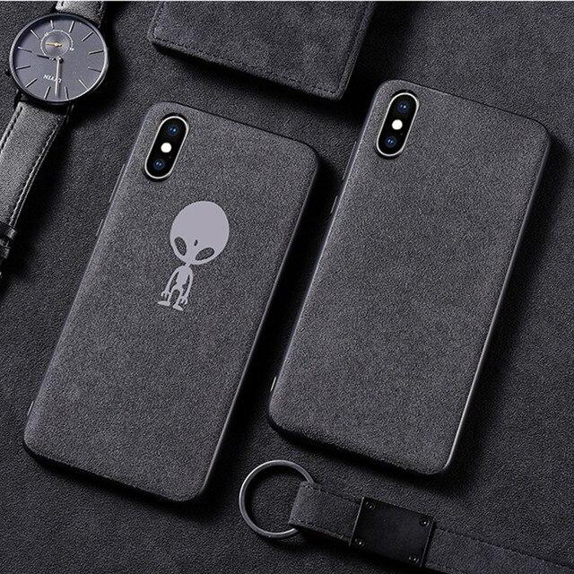 QINUO Lông Ốp Lưng Điện thoại Iphone 7 8 Plus X XR XS MAX Xe Nắp Lưng Da Cho iPhone 7 8 6 6 S Plus Sang Trọng Funda Chống Rơi CapA