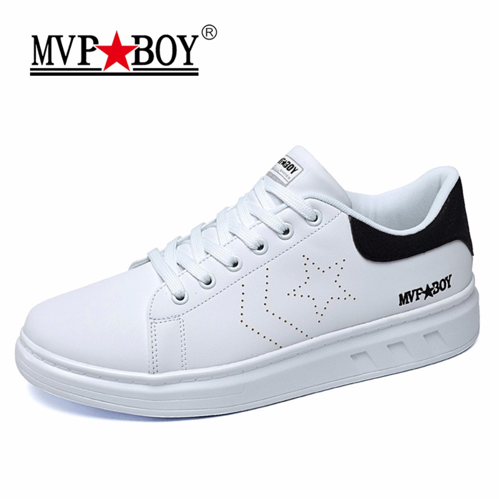MVP BOY Brand Casual Shoes Men 2017 Spring Comfortable Solid Lace Up Shoes Casual Men Fashion