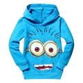 2016 winter fall cute cartoon despicable me 2 minion Big eyes baby boy clothes hoodies children's clothes baby girl clothes