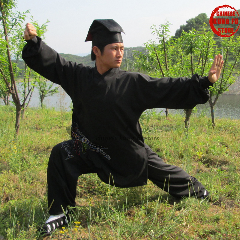 Custom 3 Colors Wudang Robe Style Tai Chi Uniform Wushu Martial Arts Wing Chun Shaolin Suit