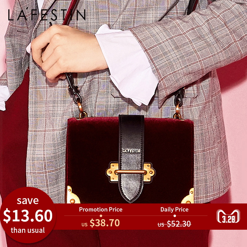 LAFESTIN Femmes sac à bandoulière sac à main en velours Marques 2018 Conception De Luxe Célèbre Designer sac à bandoulière Feminina qualité supérieure