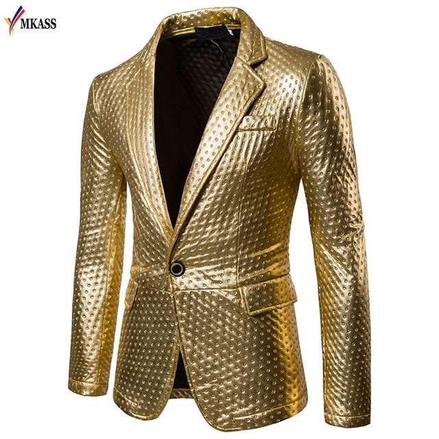 c5e1e8727c9 New Fashion Mens Brand PU Leather Blazer British Style Casual Slim Fit suit  Jacket male Blazers