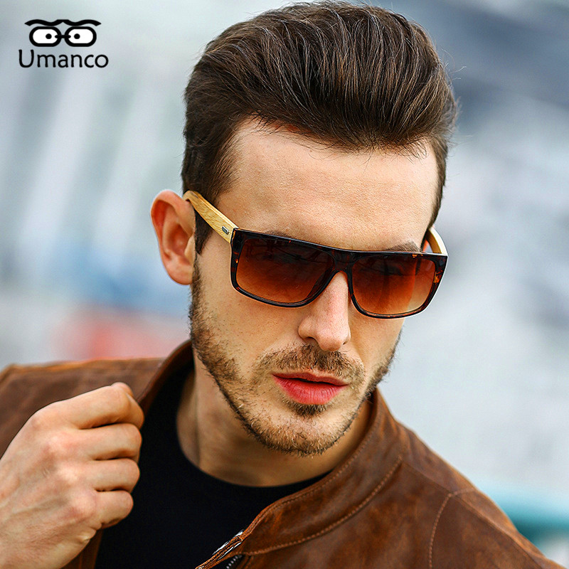 Umanco Classic Fashion Bamboo Foot Sunglasses Men Women Vintage Wooden Sun Glasses Male Driving Goggles Personality Eyewear Gift