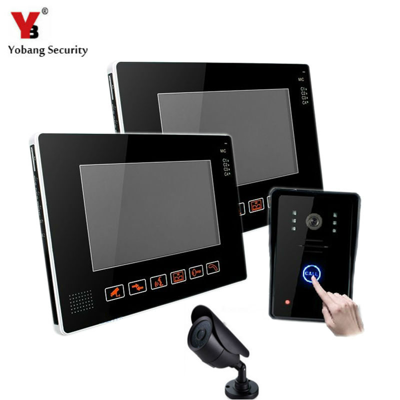 YobangSecurity 9 Video Audio Intercom Doorbell Video Door Phone Bell Access Control With CCTV Camera for Home Security System