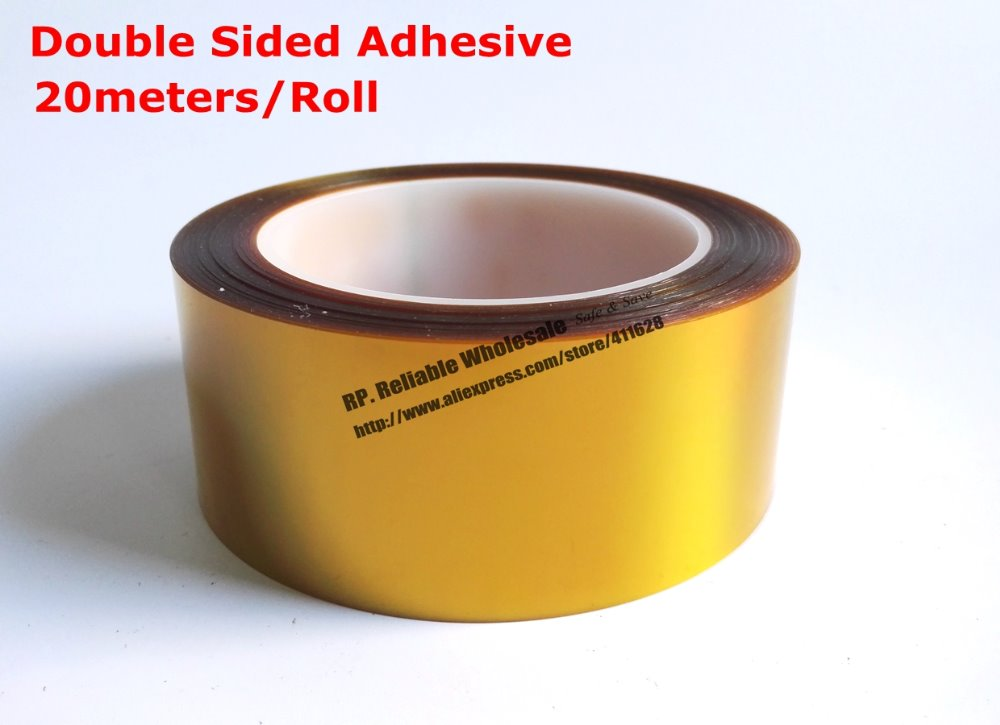 Double Sides Sticky Tape 5mm-25mm * 20 Meters 0.1mm Thick High Temperature Resist Polyimide Film for PCB SMT Motor transformer 110mm 33 meters 0 08mm single side heat resist sticky pet polyester film tape for protection