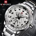 Часы NAVIFORCE мужские  Роскошные  брендовые  повседневные  кварцевые  спортивные  стальные  военные  наручные часы Navi Force 2018