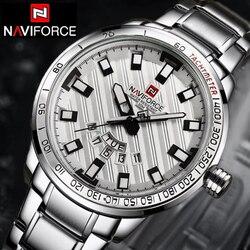 NAVIFORCE Watches Men Luxury Brand Casual Watch Quartz Clock Men Sport Watches Men's Steel Military Wrist Watch Navi Force 2018