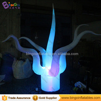 Standing Led Lighted Inflatable Jellyfish Plant, inflatable Seaweed water plants Ground LED Decoration for stage