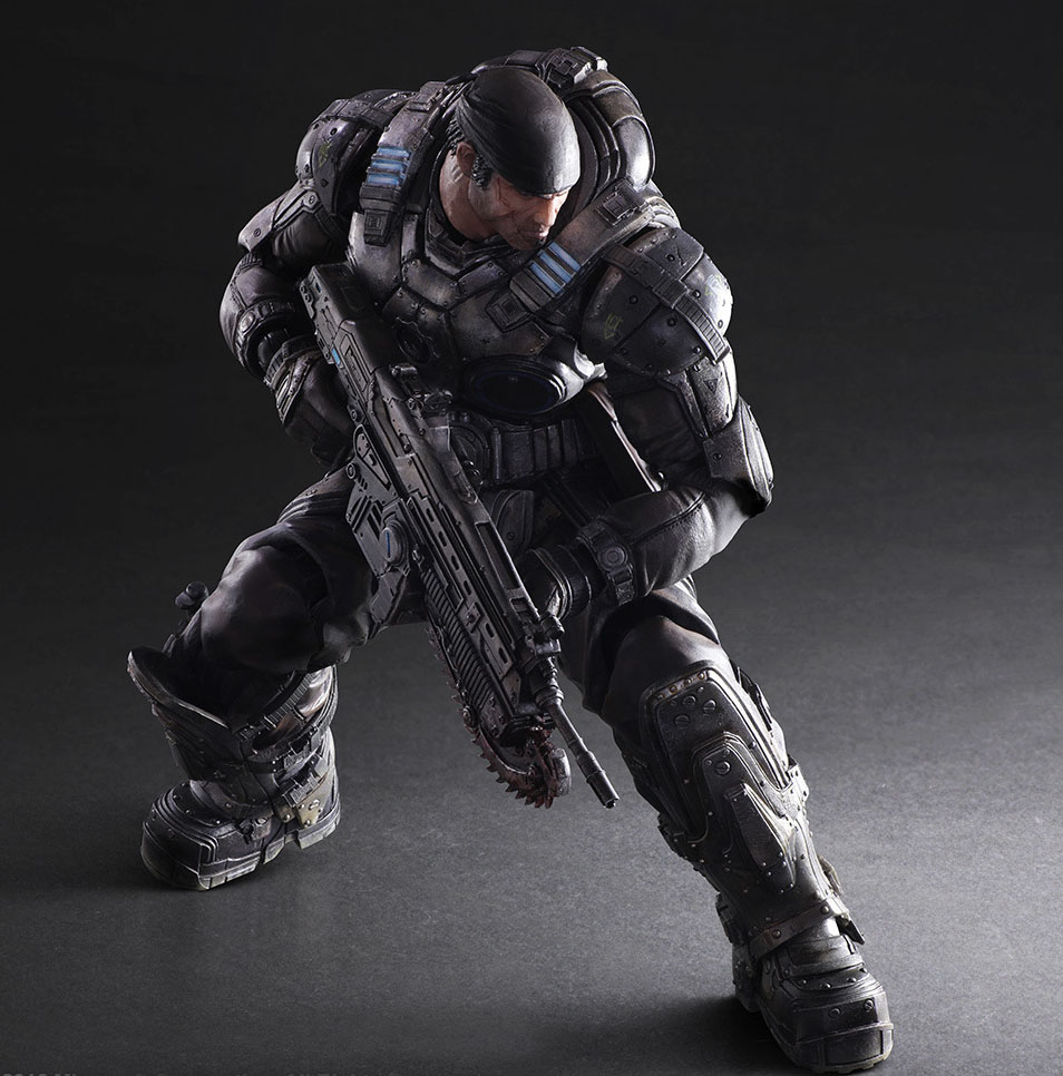 Free Shipping 11 PA KAI Game Gears Of War Marcus Fenix Boxed 27cm PVC Action Figure Collection Model Doll Toy Gift free shipping 14 hot game hero caitlyn the sheriff of piltover boxed 35cm pvc action figure collection model doll toy gift
