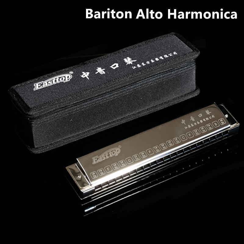 Easttop Bariton Harmonica Senior professionnel Alto Harmonika T5 instrument de Musique Harpe Accompagnement Orgue à bouche