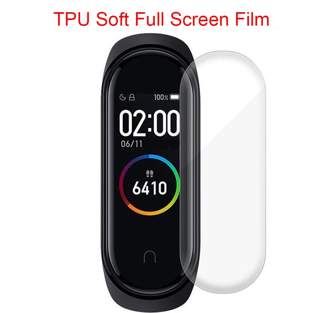 1/2/3Pcs Mi Band 4 Bracelet Screen Protective Film TPU Soft Full Screen Nano HD Explosion-proof Films For Xiaomi Mi Band 4 Band4