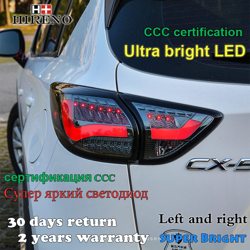 Hireno Tail Lamp for Mazda CX-5 2013 2014 2015 Taillight Rear Lamp Parking Brake Turn Signal Lights hireno tail lamp for mazda mazda6 2003 12 taillight rear lamp parking brake turn signal lights