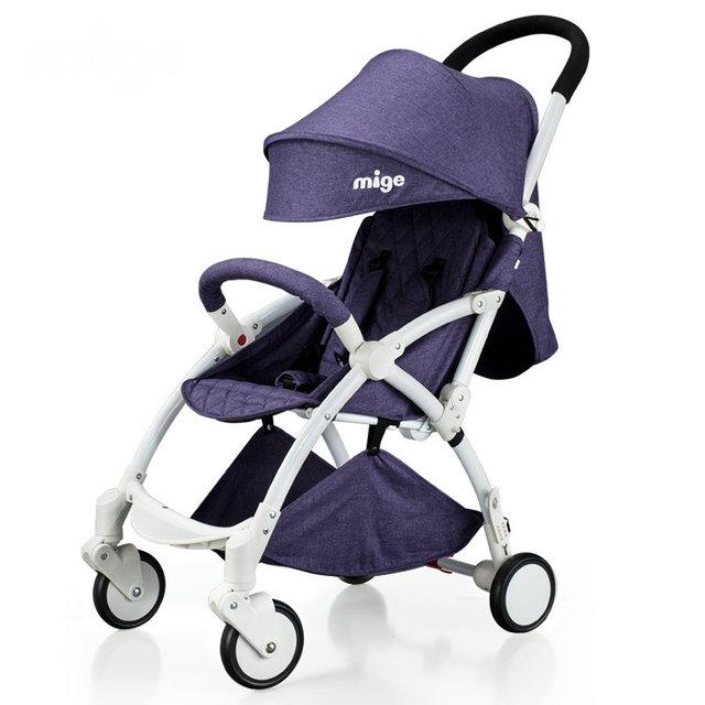 Tecido de linho carrinho de bebê fácil de dobrar carrinho pode levar no avião pode sentar pode mentir carrinho de carrinho de criança portátil