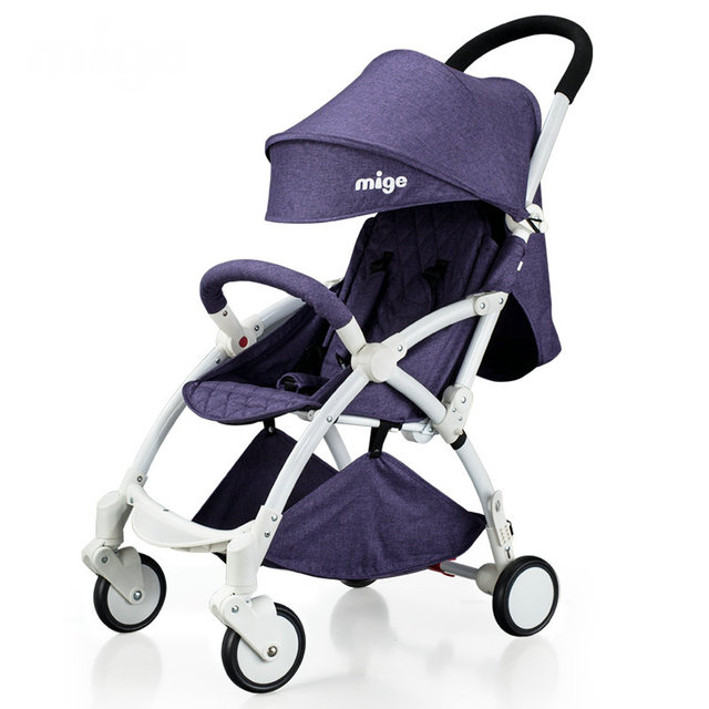 linen fabric baby stroller easy to fold cart can take on plane can sit can lie stroller portable cart