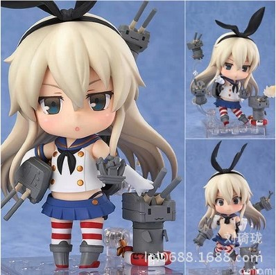 Nendoroid Kantai Collection Shimakaze #371 Action Figures Anime PVC brinquedos Collection Model toys with retail box original box sonic the hedgehog vivid nendoroid series pvc action figure collection pvc model children kids toys free shipping
