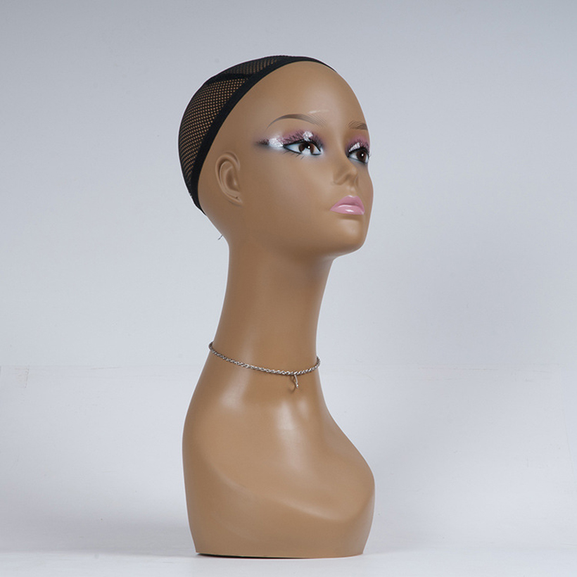 New free shipping Female Mannequin Head Wigs Hats Cap Headphone Display maniqui Model For Hair Jewellery