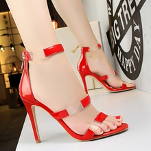 New Fashion Women Sandals Transparent PU Ankle Strap Sandals Thin Heels Peep-toe Women High Heels Classic Women Shoes She ERA недорого