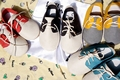 Новый fashon смешанный цвет Детские Мокасины Мягкие Moccs Детская Обувь 2016 Новорожденных firstwalker противоскользящие Подлинная Кожа Коровы Младенческой обувь