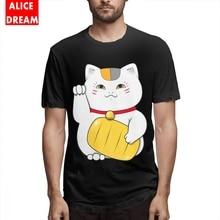 Cat Teacher Natsume Yuujinchou T Shirt Men 3D Print 100% Cotton Big Size