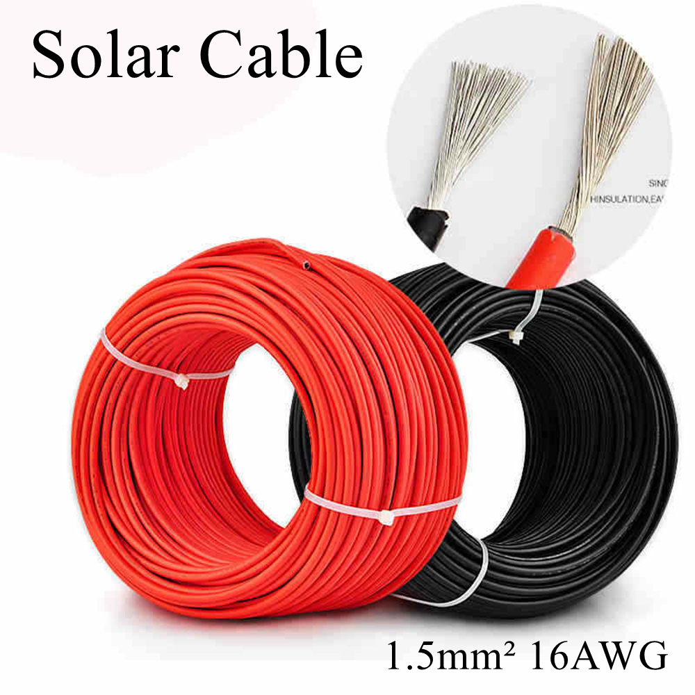 50 Meter Roll 6mm² twin Core Solar Power Cable PV Photovoltaic 50m