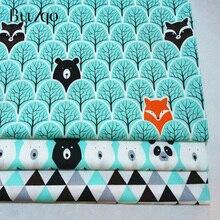 Buulqo 100% tela de algodón de sarga acolchado por medio metro para textil tecido pañuelo de retales sábanas