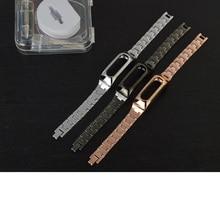 Xiaomi mi banda 1 s de metal correa para original xiaomi miband 1 s 1a inteligente pulsera wrist band plata negro oro color