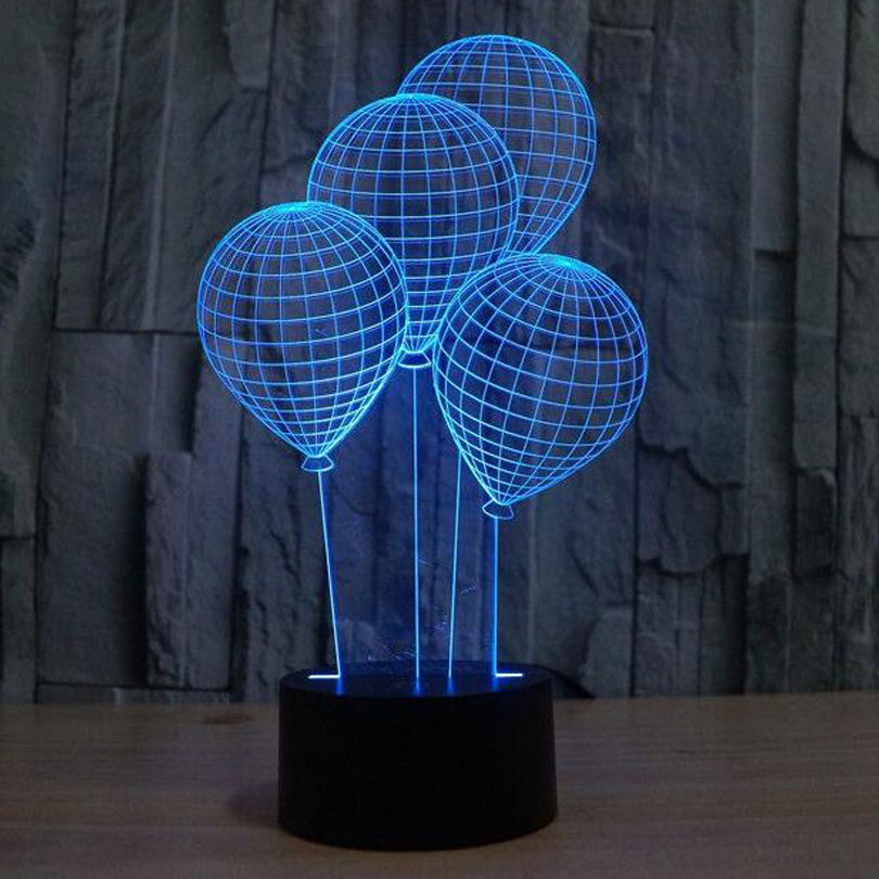 Balloon Novelty USB Touch 3d Night Light Three Dimensional Dimmable Led Desk Lamp as Home Decor Table Lamparas de Mesa avengers hulk led night light 3d lamp luminaria de mesa lighting toy kids room led usb electronic gadget home decor bed light