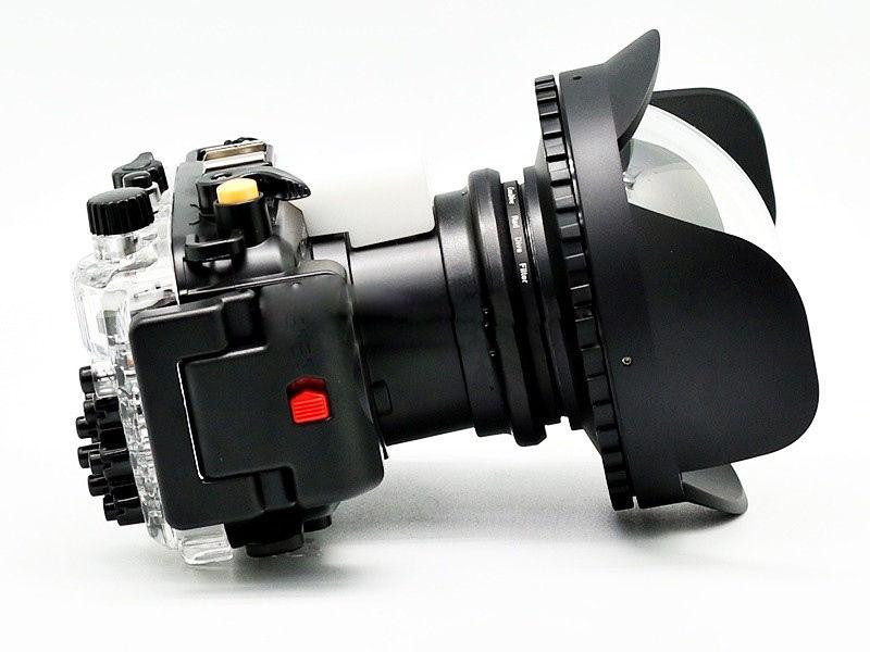 цена на 40m 130ft Waterproof Housing Case for Sony RX100 IV / M4 + Fisheye Wide Angle Lens